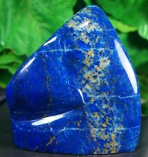 Lapis lazuli Hand Polished Mineral Specimen deep blue 305 Grams  Minerals