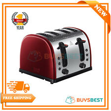 Russell Hobbs Legacy 4-Slice Stainless Steel 2400W Reheat Toaster - Metallic Red