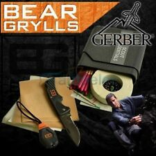 GERBER BEAR GRYLLS SURVIVAL KNIFE COMPASS SCOUT ESSENTIALS TORCH KIT 31-001078