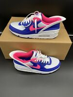 Men's Nike Air Max 90 FlyEase Sneakers Running White Pink CU0814-101 Size 9.5