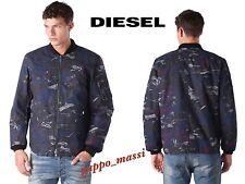 NWT Diesel W-MAX Camouflage Print Army Mens BLACK Zip up Jacket M MEDIUM $398