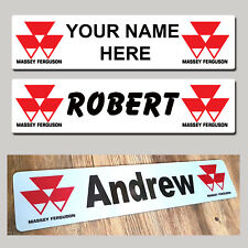 Massey Ferguson Tractor Combine Truck Trucker NAME PLATES Sign Custom Made Show