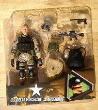 ULTIMATE SOLDIER 1/18 ELITE FORCE BBI UNIMAX OPEN CARD SGT. SAM DEGROOT