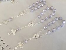 25 Pc Mini Rosary OYSTER GRAY COLOR/ Baptism Favors/Recuerdos De Bautizo