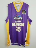 SYDNEY KINGS And1 Mens Size 2XL 2012 NBL Home Jersey #35 Darnell Lazare