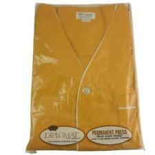 Diplomat Pajamas Short Sleeve Knee Length XL Gold Vintage NOS MCM Perm Press