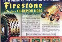 1945 1 1/2 PAGE ORIGINAL VINTAGE FIRESTONE TIRE MAGAZINE AD