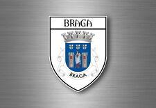 Autocollant sticker voiture moto blason ville drapeau portugal braga
