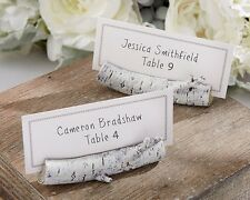 6 Birch Place Card Holders Wedding Anniversary Party Bridal Shower Favor Wood