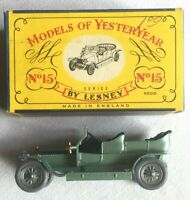 Lesney MATCHBOX Models Of  YesterYear No15 1907 RollsRoyce SilverGhost w/Org Box