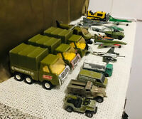 38 Vintage Military Vehicles Airplanes Britain Solido Buddy L Die Cast Lot