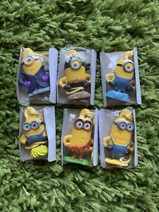 6 Minions Cereal Toy Ornaments Prize Banana Set New