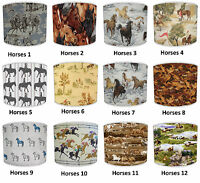 Lampshades Ideal To Match Equestrian Horses Wallpaper Horses Cushions & Decals.