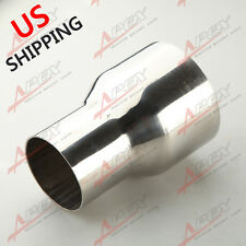 """2.5"""" TO 3.5"""" INCH WELDABLE TURBO/EXHAUST STAINLESS STEEL REDUCER ADAPTER PIPE US"""