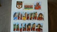 18 VIGNETTES PANINI  FOOTBALL CHAMPIONNAT FRANCE 1978 REPRINT NICE