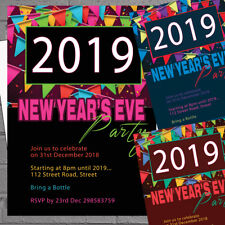New Years Eve Party Invitations NYE X12 With Envelopes H1659