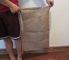 "2 NEW 18"" X 30"" BURLAP SACKS GUNNY FEED BAG TOW JUTE SACK"