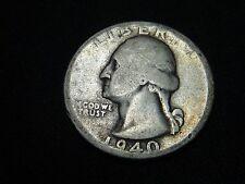 1940 S  #2 CIRCULATED SILVER WASHINGTON QUARTER
