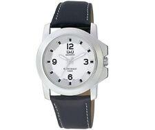 Q&Q Q604J304Y Mens Dress Watch Silver Tone Water Resistant Wristwatch New