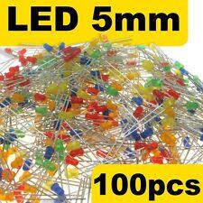424# LED diffusant 5mm Jaune Rouge Bleu vert orange 5x20pcs