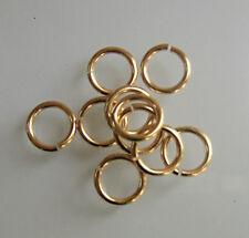 Lot 10 mailles anneaux  dorés     diamètre 11 mm x épaisseur du fil 1,5mm