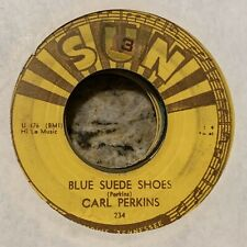 "45rpm Carl Perkins ""Blue Suede Shoes"" orig SUN 234 Rockabilly VG-"