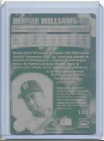1/1 BERNIE WILLIAMS 1997 CROWN COLLECTION PRINTING PLATE NEW YORK YANKEES 1 OF 1