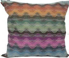 MISSONI HOME PILLOW SILK BLEND FEATHER AND DOWN FILLING MOGA 160 JACQUARD 16x16""