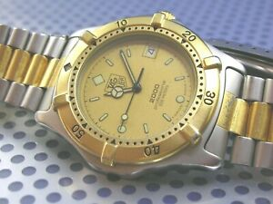 TAG HEUER 2000 professional 200m,MEN'S diver, 18k GOLD plated
