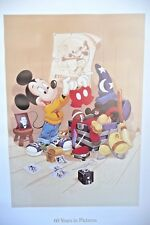 Mickey Mouse 60 Years In Pictures Lithograph Poster 1988 Limited Edition