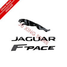 Gloss Black Emblem Rear Badge Decal Set For Jaguar 2017+ Fpace V6 R S F-PACE