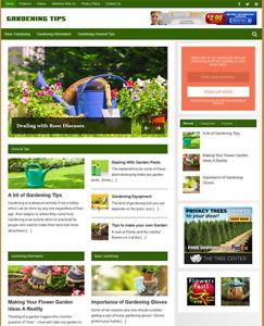 GARDENING - Fully Featured Niche Business Website For Sale - Newbie Friendly