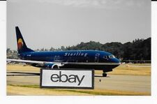 STERLING AIRLINES DENMARK BOEING 737-800 NAVY LIVERY BOEING FIELD SEATTLE PHOTO