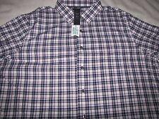 NWT Men's Apt. 9 L/S Button Front Dress Shirt Size 2XLT $56 Color - Gloxinia