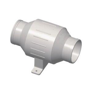 """Boat Bilge Blower, In-line Turbo Fan 230 CFM Marine Grade IP66, 3"""" Hose (Dia.)"""
