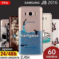 FUNDA TPU Gel dibujos para SAMSUNG Galaxy J5 2016 j510 dibujo printed frases