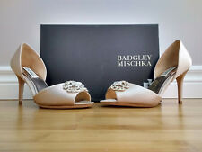 Size 6.5 Badgley Mischka Satin Peep Toe Pumps - NEW