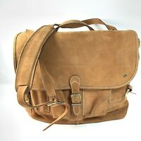 THE TERRITORY AHEAD BROWN LEATHER MAILBAG SATCHEL MESSENGER CLASSIC LAPTOP BAG