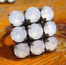 Runde Modeschmuck-Ringe aus Glas