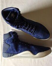 Adidas Original Tubular Instinct Sneakers Mens Size 13 Blue Suede High Top Shoes