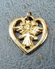 James Avery Retired 14k Crown Angel Heart Charm Uncut Mint Condition