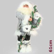 Deko Weihnachtsmann Figur Nikolaus 61 cm Groß Stehend Santa Claus Weihnachten