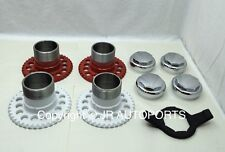 4 wire wheel adapters octagon smooth chrome knock offs Spinners wrench 8 sides
