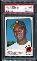 1973 Topps Baseball #114 LYNN McGLOTHEN Boston Red Sox RC ROOKIE PSA 8 NM-MT