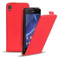 Flip Case Sony Xperia Z Hülle Pu Leder Klapphülle Handy Tasche Cover Rot