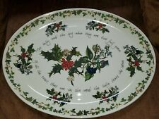 "PORTMEIRION - Holly & Ivy Large Turkey Platter, 20"" L X 15"" W  Great, Look!!"