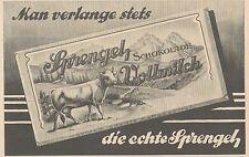 Y4116 SPRENGEL Schokolade Vollmilch - Pubblicità d'epoca - 1925 Old advertising