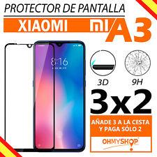 Protector Pantalla Xiaomi Mi A3  Cristal Templado 3D Full Glue Dureza 9H Oferta
