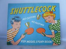 Shuttlecock Toy Model Story Book - Unused - Pop Out Shuttlecock & Bat