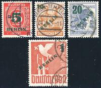 BERLIN 1949, MiNr. 64-67, gestempelt, gepr. Schlegel, Mi. 40,-